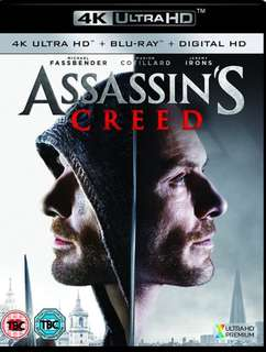 Assassin's Creed UHD 4K & Blu ray