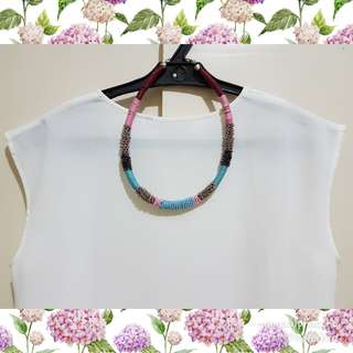 Beaded and Wired Statement Necklace
