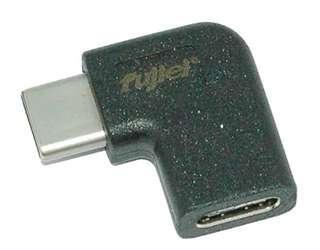 90度type-c公 / type-c母鍍鎳轉換頭 90度USB3.1 Type-C(公)to Type-C(母)轉換頭