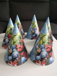 Avengers party hats x6