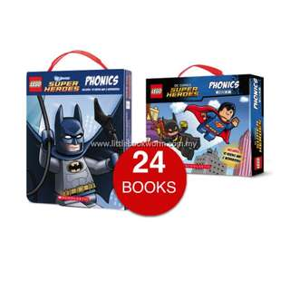 LEGO DC SUPER HEROES PHONICS COLLECTION (24 BOOKS)