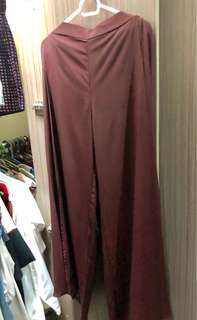 H&m palazzo pants maroon fits s-m
