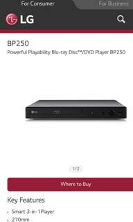 LG BP250 Blu-Ray Disc/DVD player