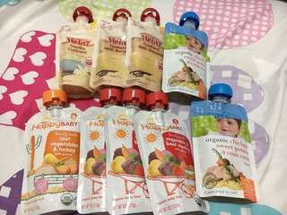 Heinz + Bellamy's Organic + Happy baby food pouch bundle