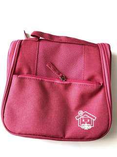 (全新) 桃紅色 掛勾式 旅行 儲物袋 旅行收納袋 收納包