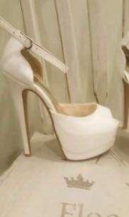 White Marco gianni heels