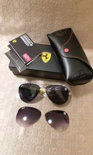 Original rayban RB 3460 FERARRI.LIMITED EDITION WITH FREE INTERCHANGEABLE LENS