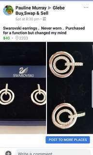 Swarovski Earrings Never used