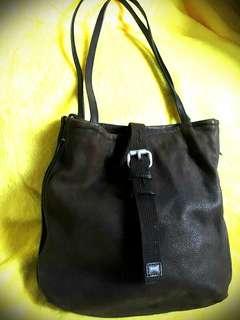 Salad Leather Shoulder Bag