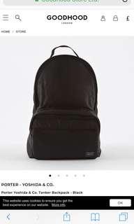 Porter 黑色背包 背囊