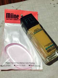 Fit me! Matte Poreless (natural beige) with Free silicone cosmetic sponge