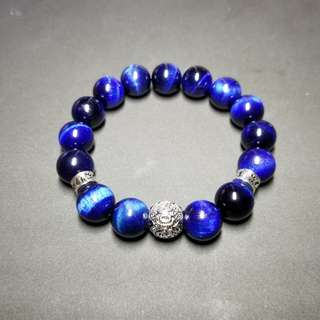 🚚 Men's Bracelet Blue Tiger's Eye