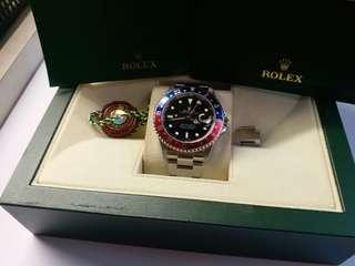 勞力士Rolex 16710 GMT 2 F頭紅藍888