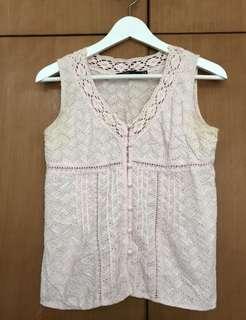 Mastina pink pattern top size 36