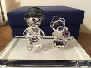 Swarovski 水晶擺設(🐻夫婦)