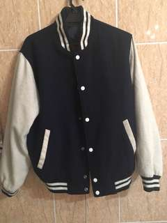 White/Navy blue varsity
