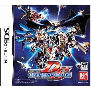 SD Gundam G Generation DS Nintendo DS (Japan Version)