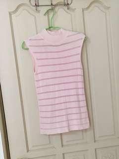 🚚 粉紅無袖針織衫