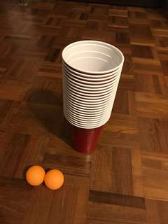 Official Beer Pong Set Up