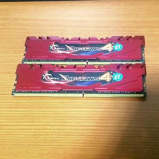 GSkill Ripjaws DDR4 2 x 4gb = 8gb 2666mhz Ram Memory for Desktop Computer