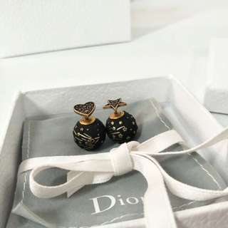 Dior 2018 earring 黑色珠珠耳環