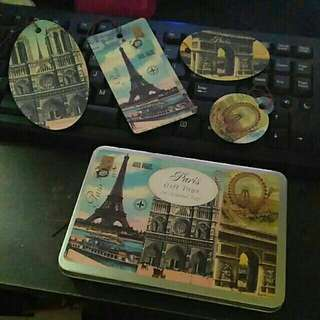 Paris gift tag