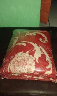 Sprei Homemade Bunga Merah
