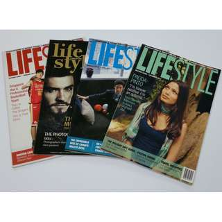 Lot of 4 Lifestyle Singapore Magazines: Back Issues 2011 & 2012