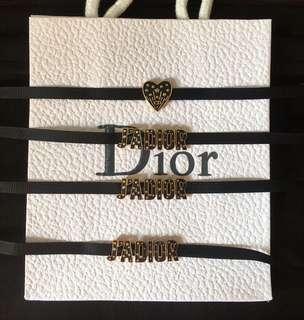 Dior choker 繩頸鏈