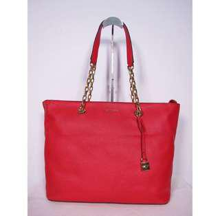 BNEW Michael Kors Leather Chain Bag ( Red )