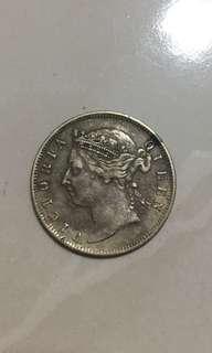 1898 20c Straits Settlements coin