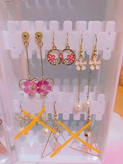 耳環 全部耳環$25/1對 $40/2對 包郵