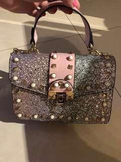 No brand fantasy colour handbag