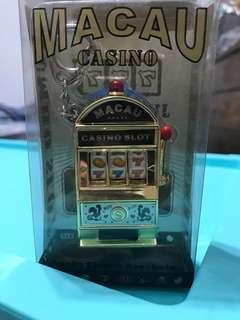 🚚 澳門購入 拉霸鑰匙圈 吊飾 吃角子老虎 Casino