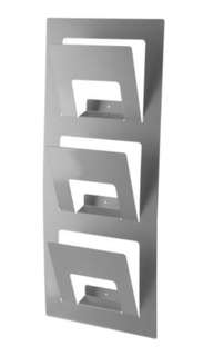 IKEA SPONTAN Newspaper / Magazine Rack -in silver colour