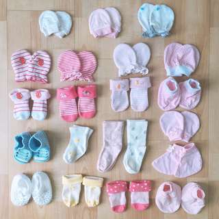 Bundle Baby Socks / Booties / Mittens