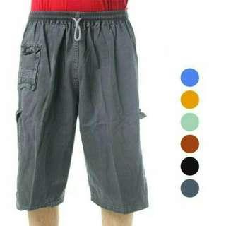 PAKET 2PCS Celana pendek jumbo 7/8 denim