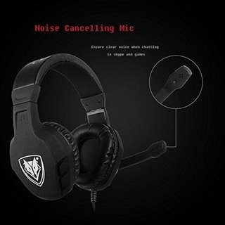 660. NUBWO U3 XBOX ONE PS4 GAMING HEADSET PC MIC, LAPTOP COMPUTER STEREO HEADPHONES WITH MICROPHONE FOR PLAYSTATION 4 XBOX 1 GAMES CONTROLLER - BLACK