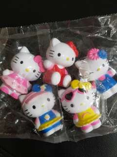 5pcs set Hello Kitty Figurine for cake decoration