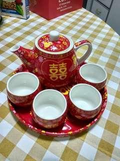 Bnip wedding tea set