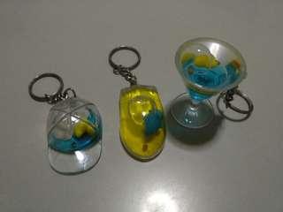 Keychain - 3 keychain(rubber duck, dolphin)