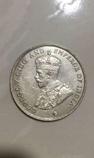 1920-$1 Straits Settlements coin