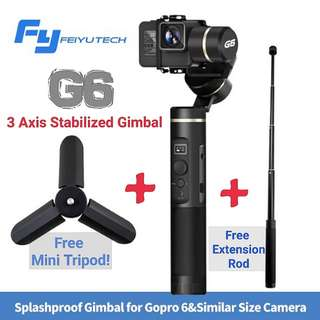 Feiyu G6 Action Camera Gimbal/Free Extension Rod+Mini Tripod! GSS PROMO!