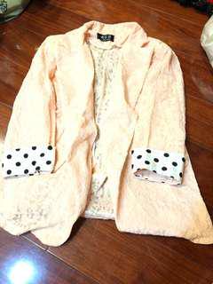 緹花粉外套