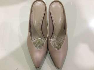 Charles & Keith Nude pink kitten heels