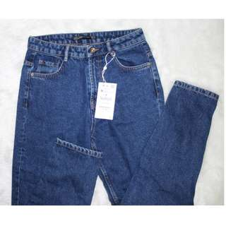 Zara mom jeans (dark blue)