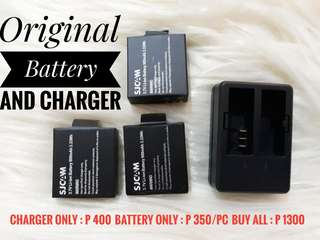 SJCam 4000 battery and charger