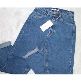 Zara mom jeans (medium blue)