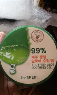 [THE SAEM] Aloe Vera Jeju Soothing Gel, NON-ALKOHOL Ori 100%