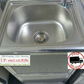 P3,990 Portable Stainless Faucet Sink with Utility Storage Rack For Office or Home Use